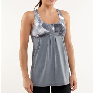 Lululemon Run: Your Heart Out Tank Blurred Grey 10